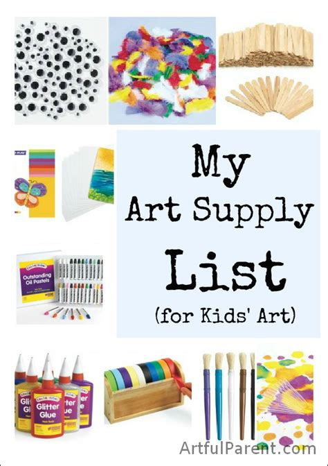 craft supplies for list of materials