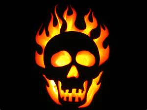 flame skull stencils images