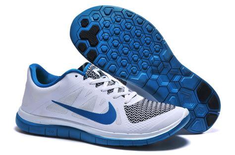 nike free 4 0 v4 running shoes mens nike free 4 0 v4 white blue running shoes wholesale uk