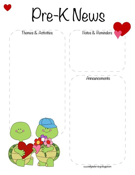 Pre K S Day Cards Templates by Pre K S Day February Newsletter Template The