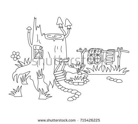 signs of black magic in your house vector black white magic stump house stock vector 715426225 shutterstock
