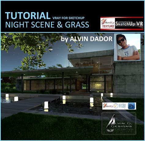 vray sketchup night lighting tutorial sketchup texture tutorial vray for sketchup night scene 3