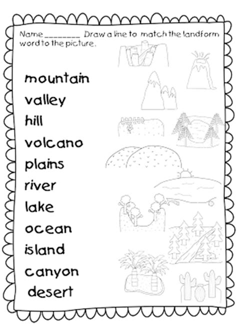 Landform Worksheet by 21 Landforms For Activities And Lesson Plans Teach