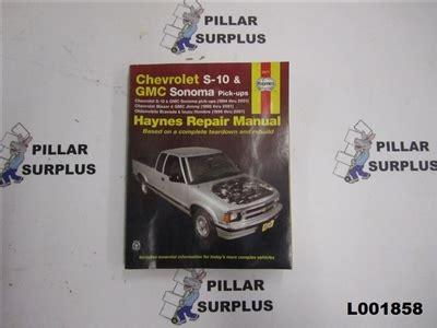 free car repair manuals 1996 gmc sonoma instrument cluster haynes repair book chevrolet s 10 gmc sonoma pick ups 24071