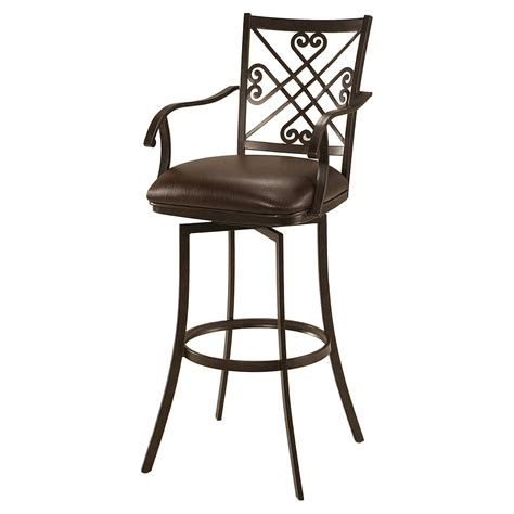 bar stools plus furniture attractive swivel bar stools with arms decor