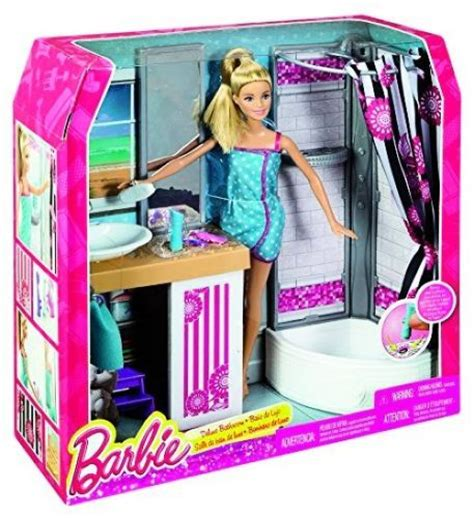 barbie doll bathroom mattel import wire transfer cfb61 barbie doll and bathroom