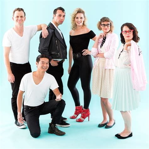 grease group halloween costume  electrifying brit