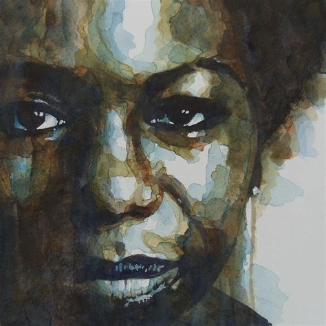Nina Simone Painting By Paul Lovering
