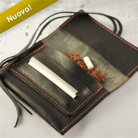 porta tabacco in pelle mini portatabacco in vera pelle black mamba