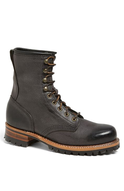 logger boots frye logger boot in black for lyst
