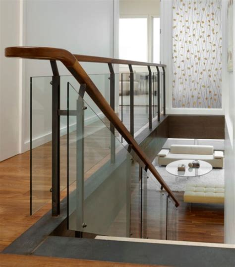 Wood And Glass Banister by Modern Handrail Designs That Make The Staircase Stand Out