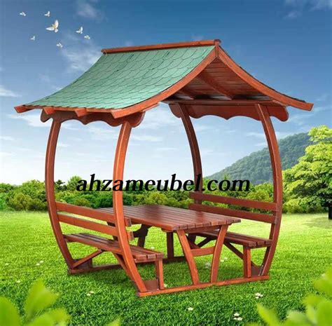 Jual Gazebo Taman Minimalis Jati AM.160 Harga Murah Jepara