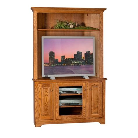 Tv Stand With Hutch corner tv stand hutch amish corner tv stand hutch