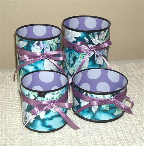teal and purple desk accessories pencil holder by makingtimetc