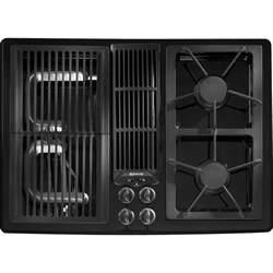 jennair gas cooktop parts jgd8130adb jenn air 30 quot downdraft gas cooktop black on