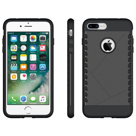 heavy duty apple iphone 8 plus 7 plus black