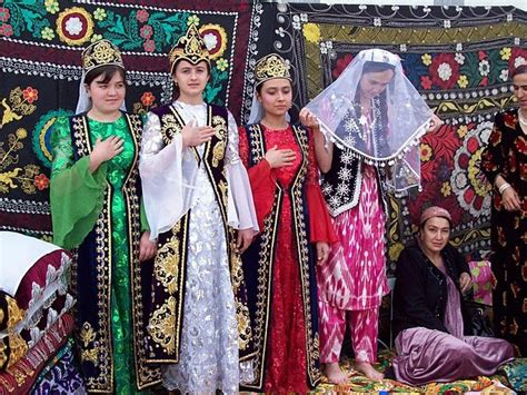 uzbek women selling traditional wedding skullcaps and dresses sunday 17 best images about as central tajik on pinterest