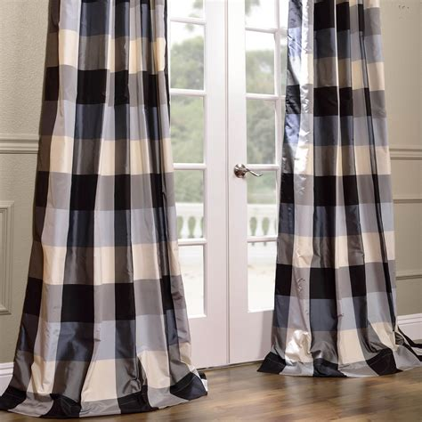 plaid silk curtains get oxford silk plaid curtains designer curtains