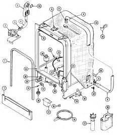 Westinghouse 905 Dishwasher Parts Tub Diagram Parts List For Model Mdb6160aww Maytag Parts