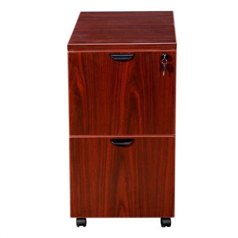 Mahogany Filing Cabinet 2 Drawer by 2 Drawer Mobile Wood File Cabinet In Mahogany N149 M