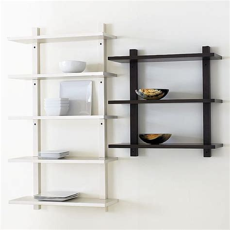 Ivory Bookcase Simple Wall Mounted Bookcase