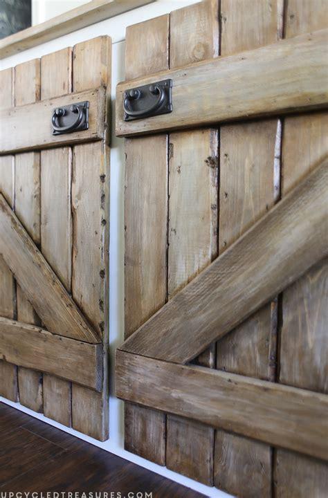 Upcycled Barnwood Style Sideboard Mountainmodernlife Com Barnwood Cabinet Doors