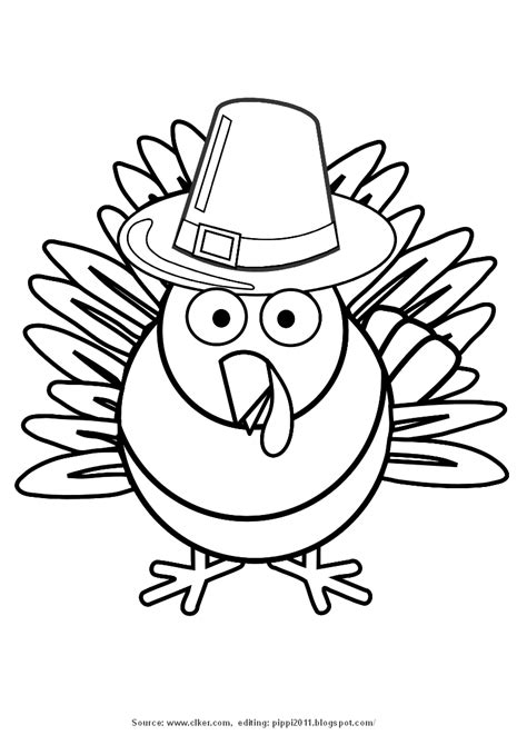 turkey clipart coloring page pippi s blog thanksgiving turkey