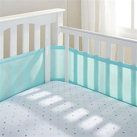Breathable Baby Mesh Crib Bumper Baby Bedding Gt Breathablebaby 174 Mix Match Breathable Mesh Crib Liner In Aqua Mist From Buy Buy Baby