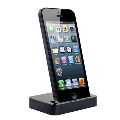 charging dock desktop stand station for apple iphone 5 5c 5s black ebay
