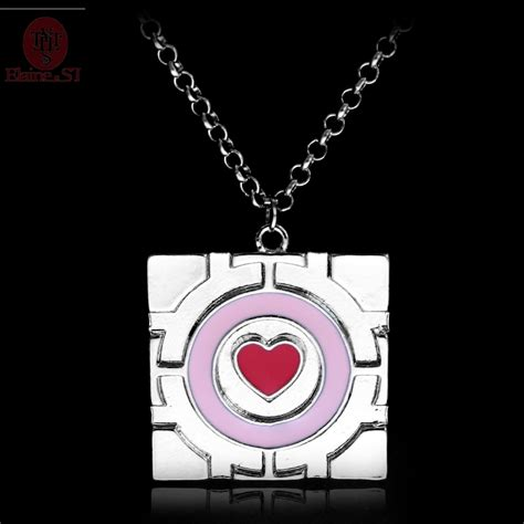 aliexpress portal drop shipping pink heart chain enamel necklace game