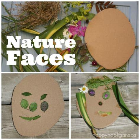 kindergarten activities nature nature faces self portrait art for preschoolers happy