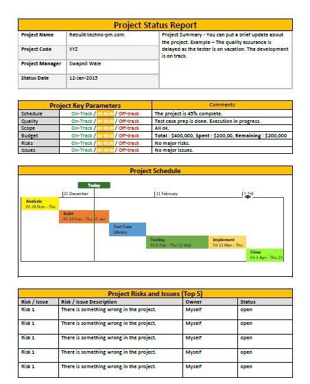 Business Development Report Template Project Status Report Template Professional
