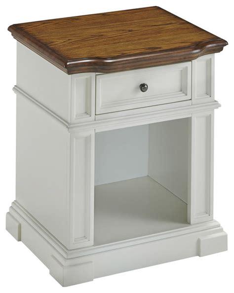 White And Brown Nightstand Shop Houzz Home Styles Furniture Americana Nightstand