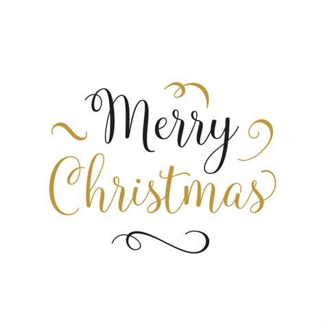 merry christmas lettering  curls vector