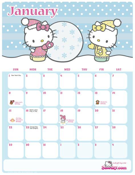 printable calendar hello kitty calendar hello kitty stuff