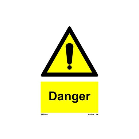 danger white danger 20x15cm white vin imo sign 187540wv