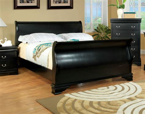 black sleigh bed queen 474 free shipping laurelle classic black curved wood