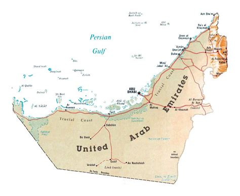 uae map maps of united arab emirates detailed map of uae in