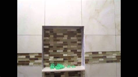 Tile Ideas For Bathrooms by Ceramic Tile Tub Area With Glass Border Youtube