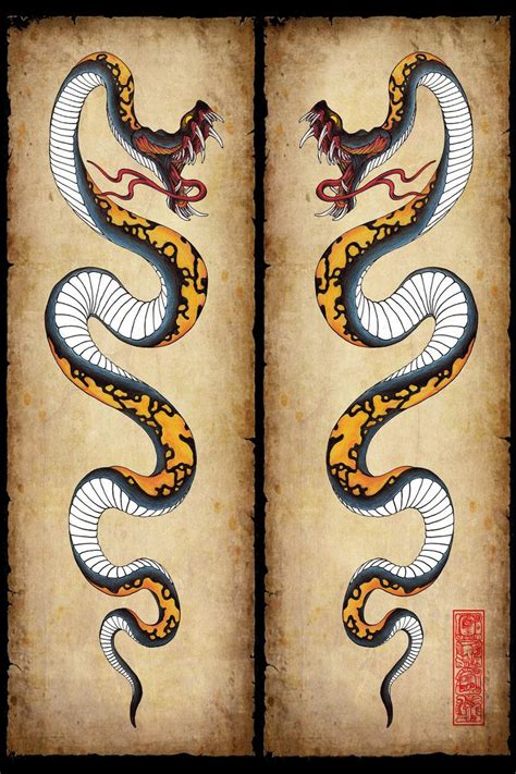 asian snake tattoo designs best 25 japanese snake ideas on