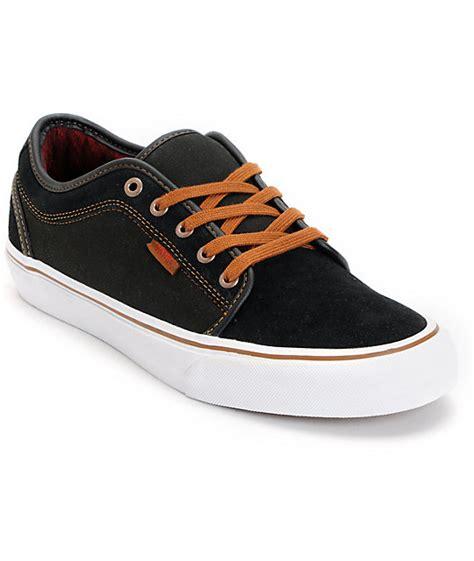 vans chukka low black flannel canvas skate shoes zumiez