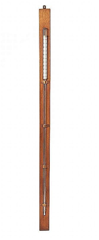 Termometer Century a mercury thermometer 19th century in glass wooden