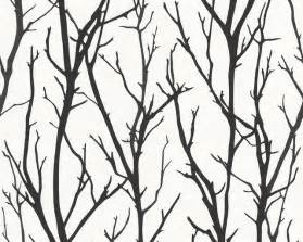 Flowers Pasadena - branch wallpaper black and white roll contemporary