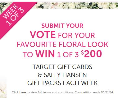 200 Gift Card Target Iphone - target vote to win 1 of 3 200 target gift cards and sally australian