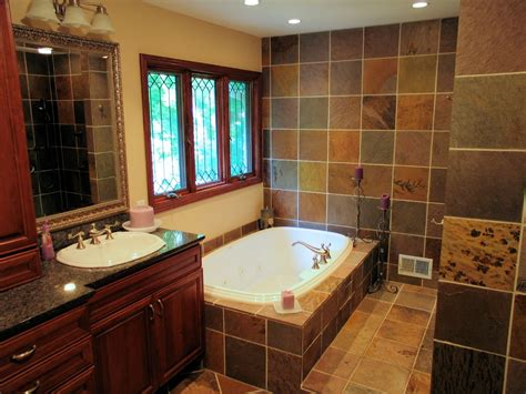 master bath tub a slate master bath renovation in indianapolis