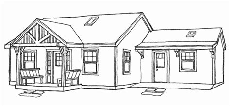 bungalow house sketch design grandfather cottage home plans kit