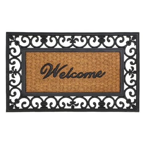 cheap fleur de lis home decor fleur de lis framed welcome mat wholesale at koehler home