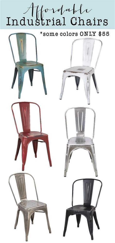 industrial dining room chairs best 25 industrial dining chairs ideas on