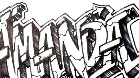 draw graffiti letters write amanda   letters