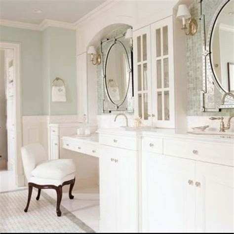vanity station in pretty bathroom finishes